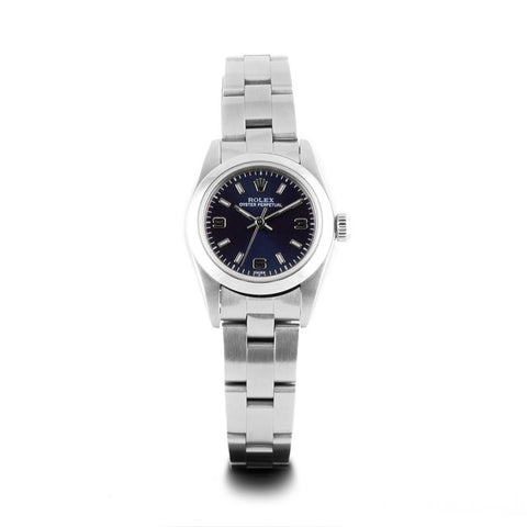 Montre d'occasion - Rolex - Lady Oyster Perpetual - 2400€ - watch band leather strap - ABP Concept -