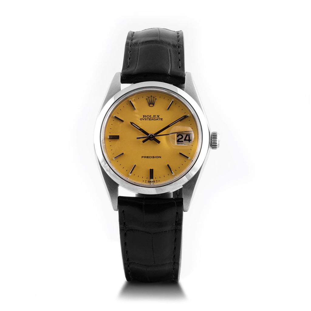 Montre d'occasion - Rolex - Oyster Date Precision - 2300€ - watch band leather strap - ABP Concept -