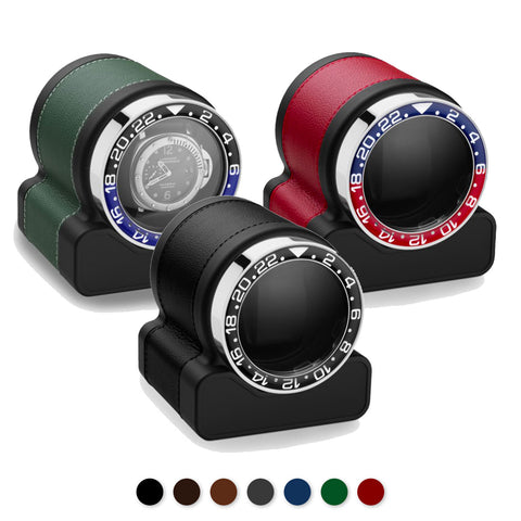 "Scatola del Tempo - Watchwinder cuir Rotor One ""Sport"" pour 1 montre"