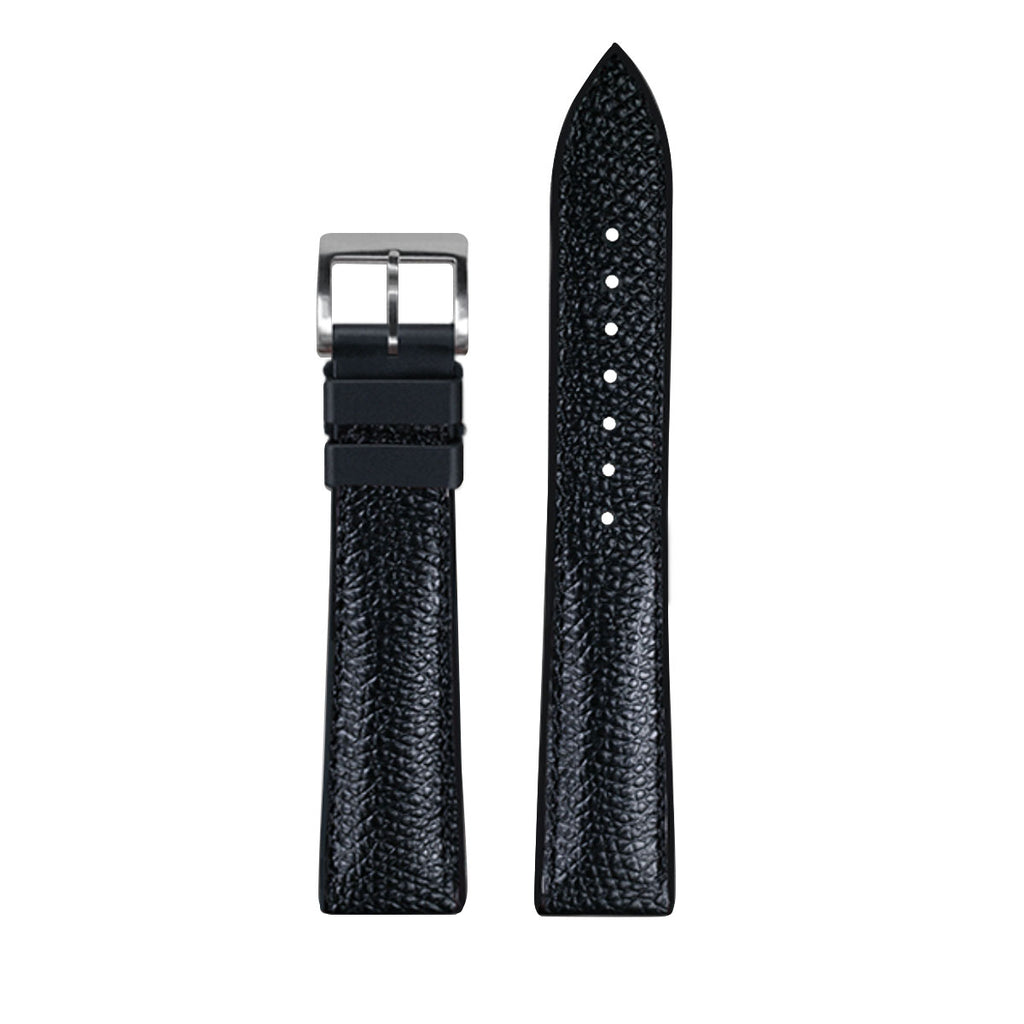 Rubber B - Bracelet caoutchouc en Veau - Série Structure base Noire - watch band leather strap - ABP Concept -