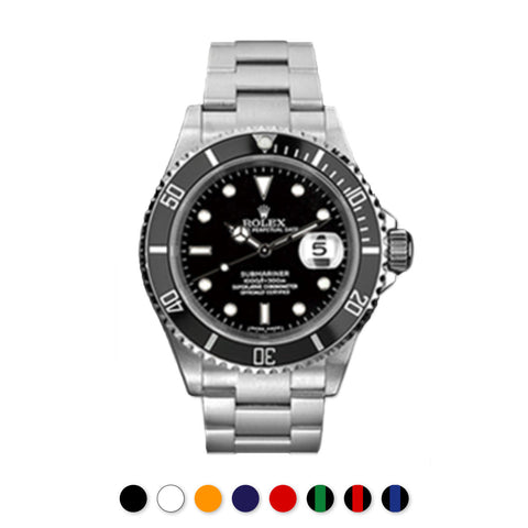 Rolex - Rubber B - Bracelet caoutchouc pour Submariner Non-Ceramic - Série classique - watch band leather strap - ABP Concept -