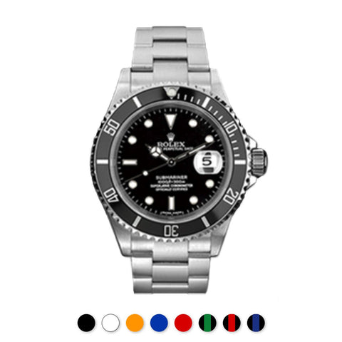 Rolex - Rubber B - Bracelet caoutchouc pour Submariner Non-Ceramic - Série boucle ardillon - watch band leather strap - ABP Concept -