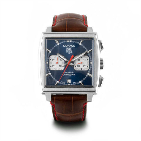 Montre d'occasion - Tag Heuer - Monaco - 3900€ - watch band leather strap - ABP Concept -