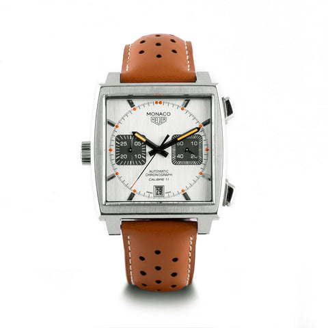 Montre d'occasion - Tag Heuer - Monaco - 4800€ - watch band leather strap - ABP Concept -