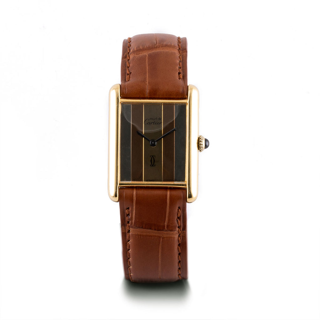 Montre d'occasion - Cartier - Tank Must - 1450€ - watch band leather strap - ABP Concept -