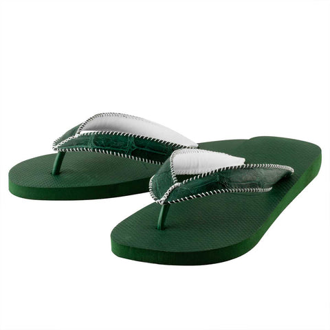 Tongs alligator – Havaianas customisées vertes – Alligator sauvage
