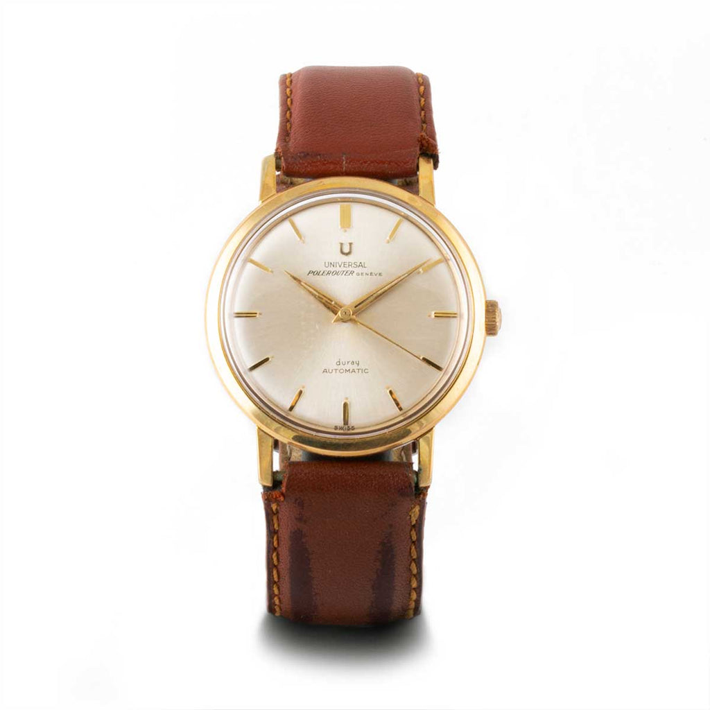 Montre d'occasion - Universal Genève - 1000€ - watch band leather strap - ABP Concept -