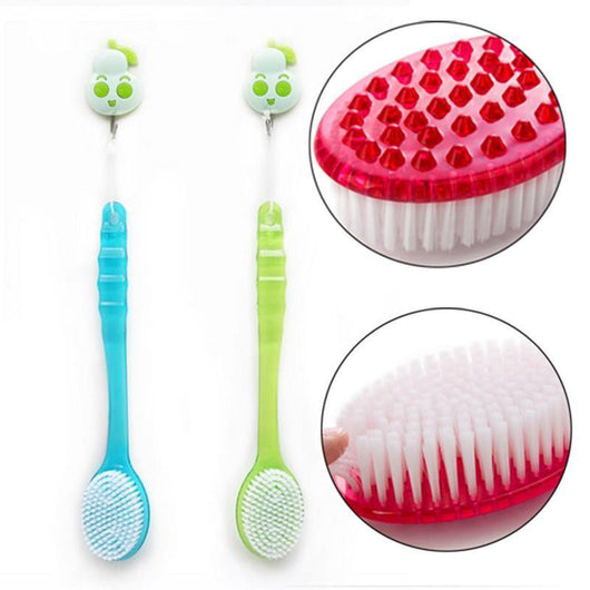 Mobility Buy LTD New Handled Body Bath Shower Back Brush Scrubber Massager Disability Helper Body Brush Massager Bath Shower Back Spa Scrubber