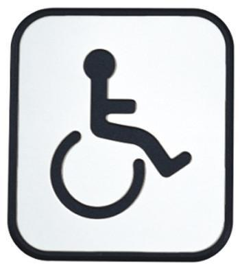Mobility Buy LTD UNILOCKS Stainless Steel Door Sign Board Toilte - Disabled(98.5mm *86.5mm)