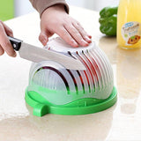 Salad cutting bowl kitchen gadget