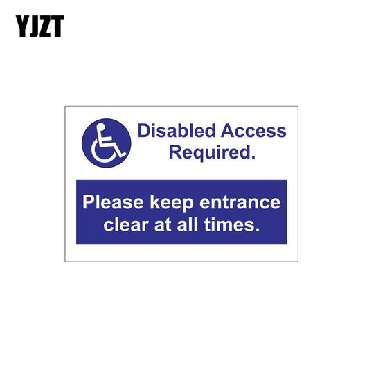 Disabled access required sign PVC