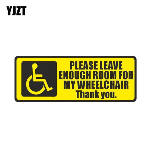 Disabled Sign Mobility Wheelchair PVC Car Sticker