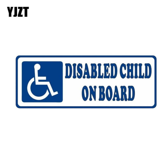 DISABLED CHILD ON BOARD PVC Car Sticker