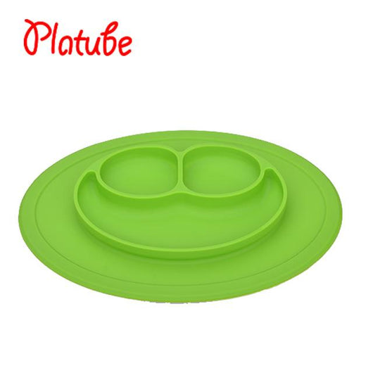 Silicone Plate Solid Feeding Bowls Plates Suction Anti Slip Dishes