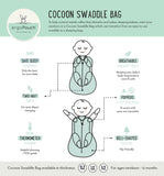 Cocoon Swaddle Bag (0.2 tog) - Blush Leaf