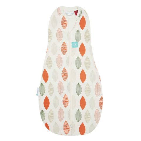 ErgoCocoon Autumn/Spring Swaddle and Sleep Bag (1.0 tog) - Blush Leaf