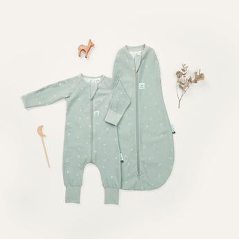 Newborn Hospital Pack (Swaddle + Pajamas) - Sage