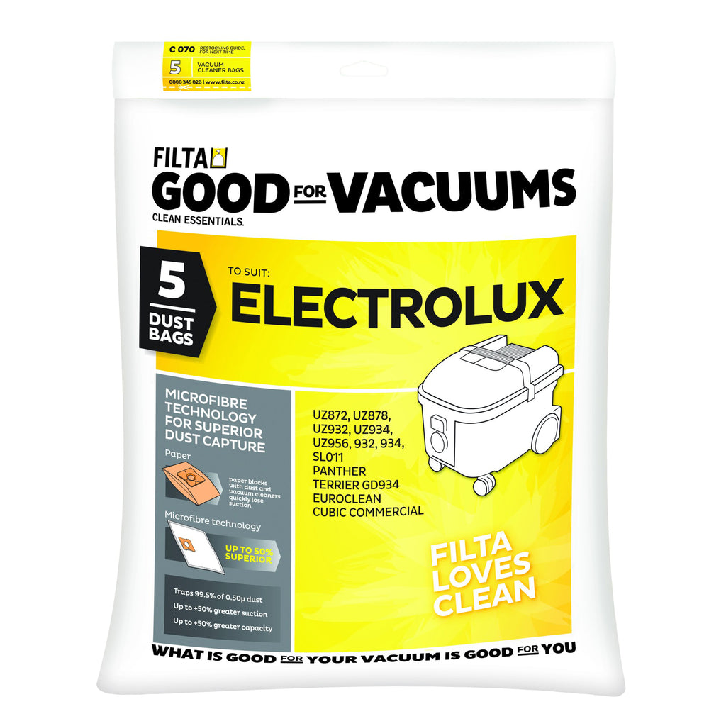 ELECTROLUX VACUUM DUST BAGS PACK OF 5 11018
