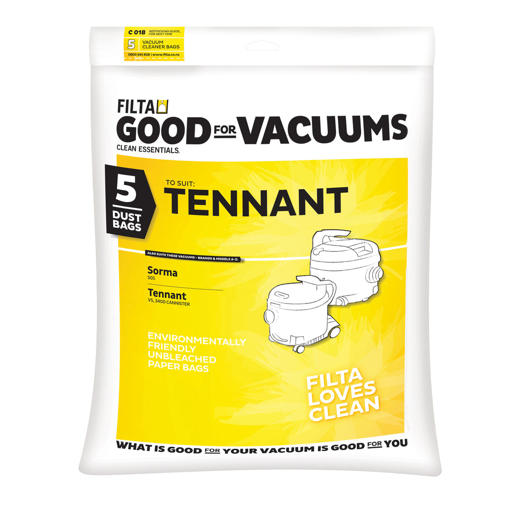 Tennant Vacuum Dust Bags 5 pack (20045) Filta