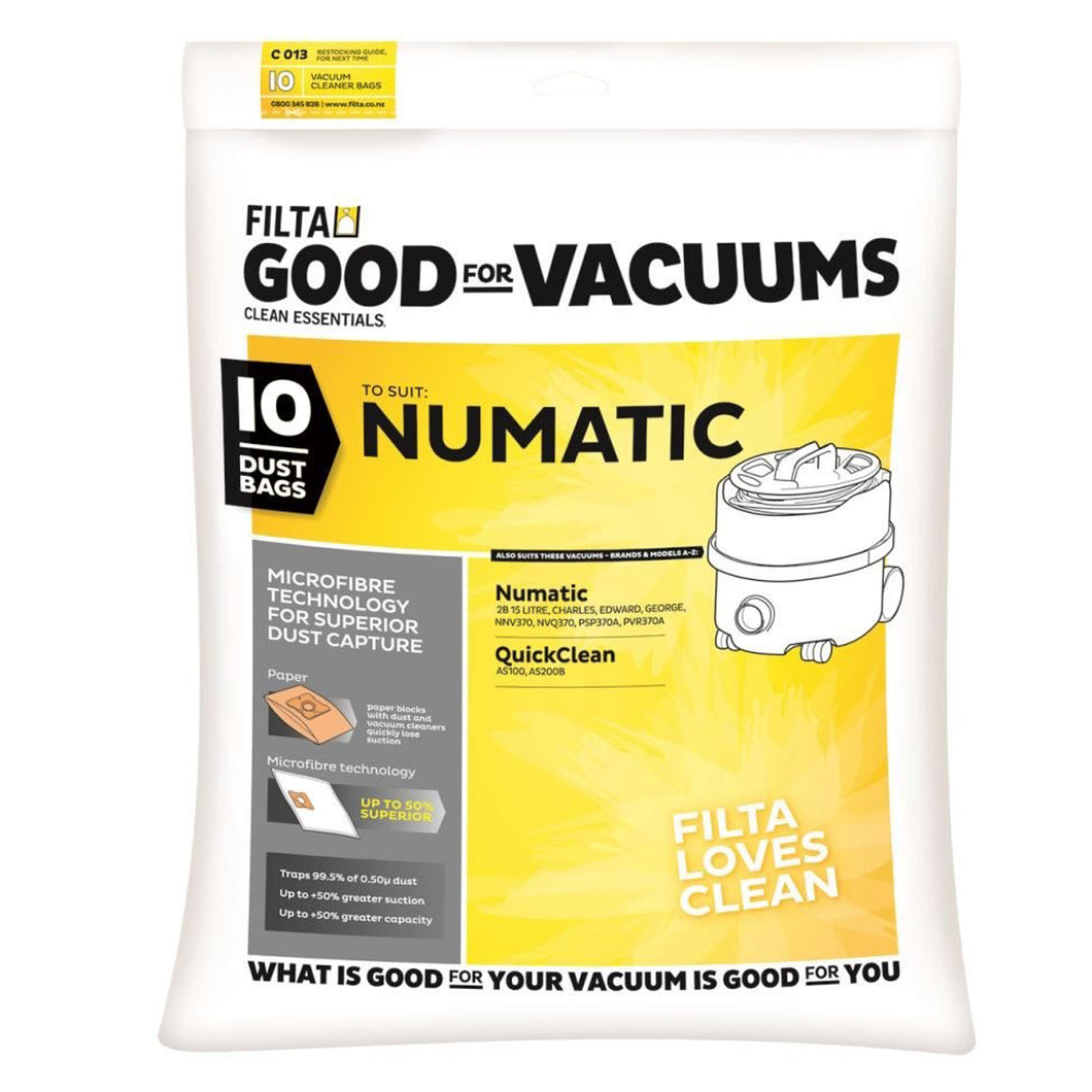 Numatic Vacuum Dust Bags Numatic CHARLES, EDWARD, GEORGE 20090 C013