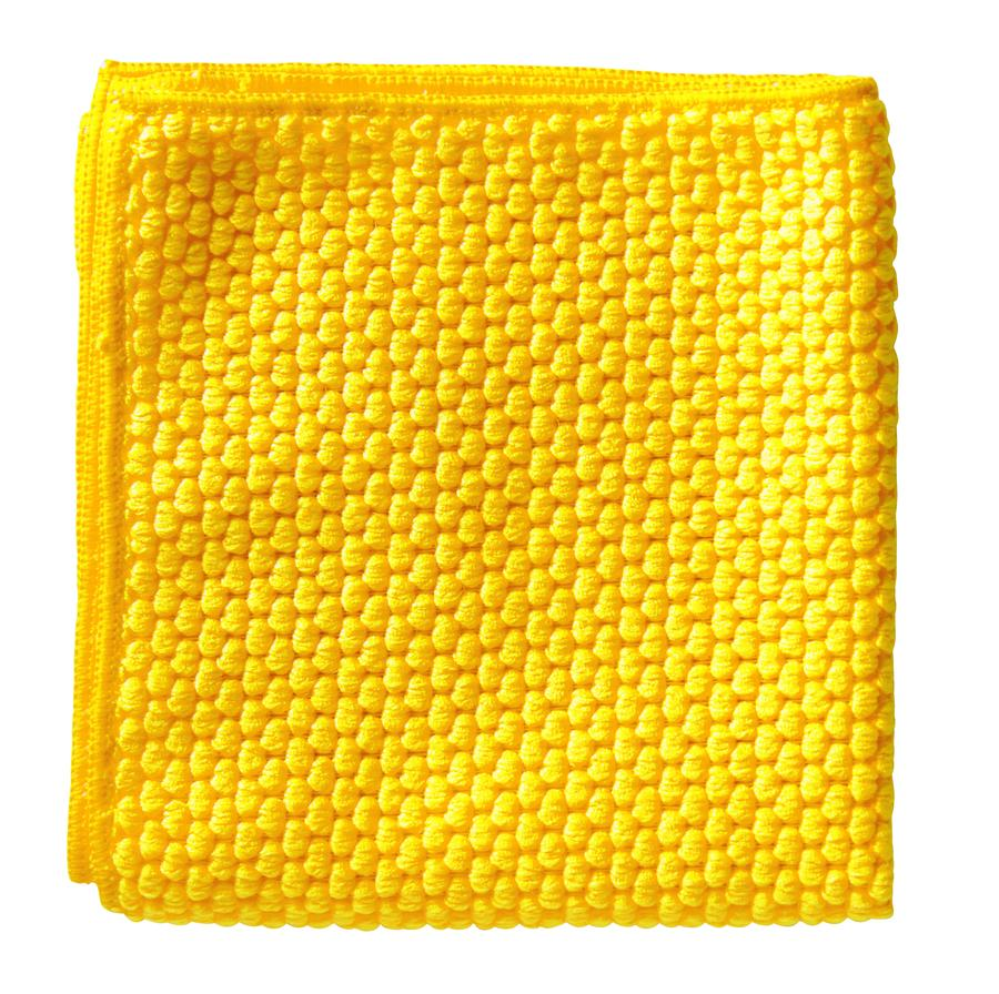 ANTIBACTERIAL B-CLEAN MICROFIBRE CLOTH Yellow 400mm x 400mm