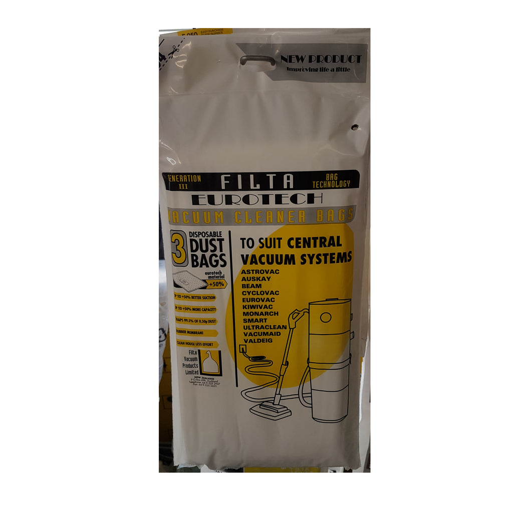 Vacuum Central Vac Bags Pack of 3