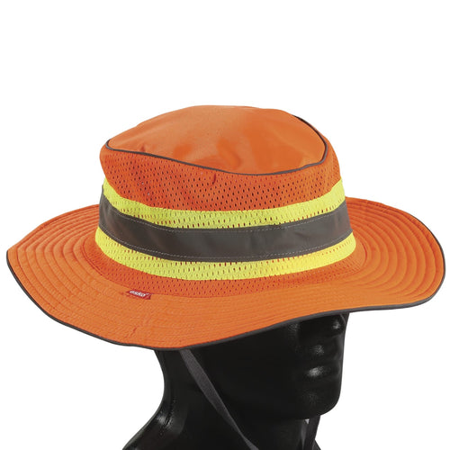 Hi-Vis Full Brim Safari Hat Choose Your Size