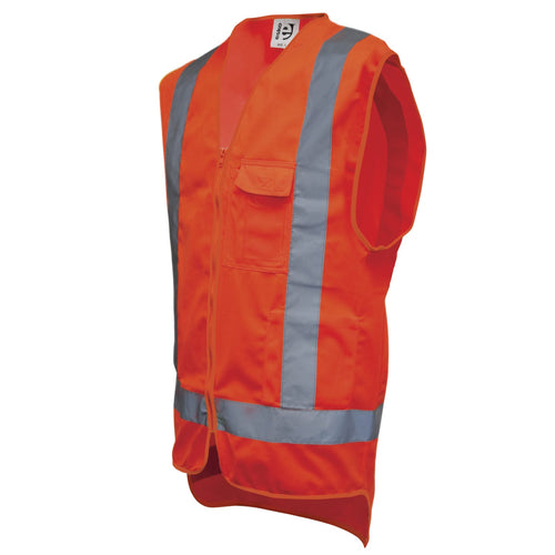 Day/Night Orange Safety Vests Choose Your Size