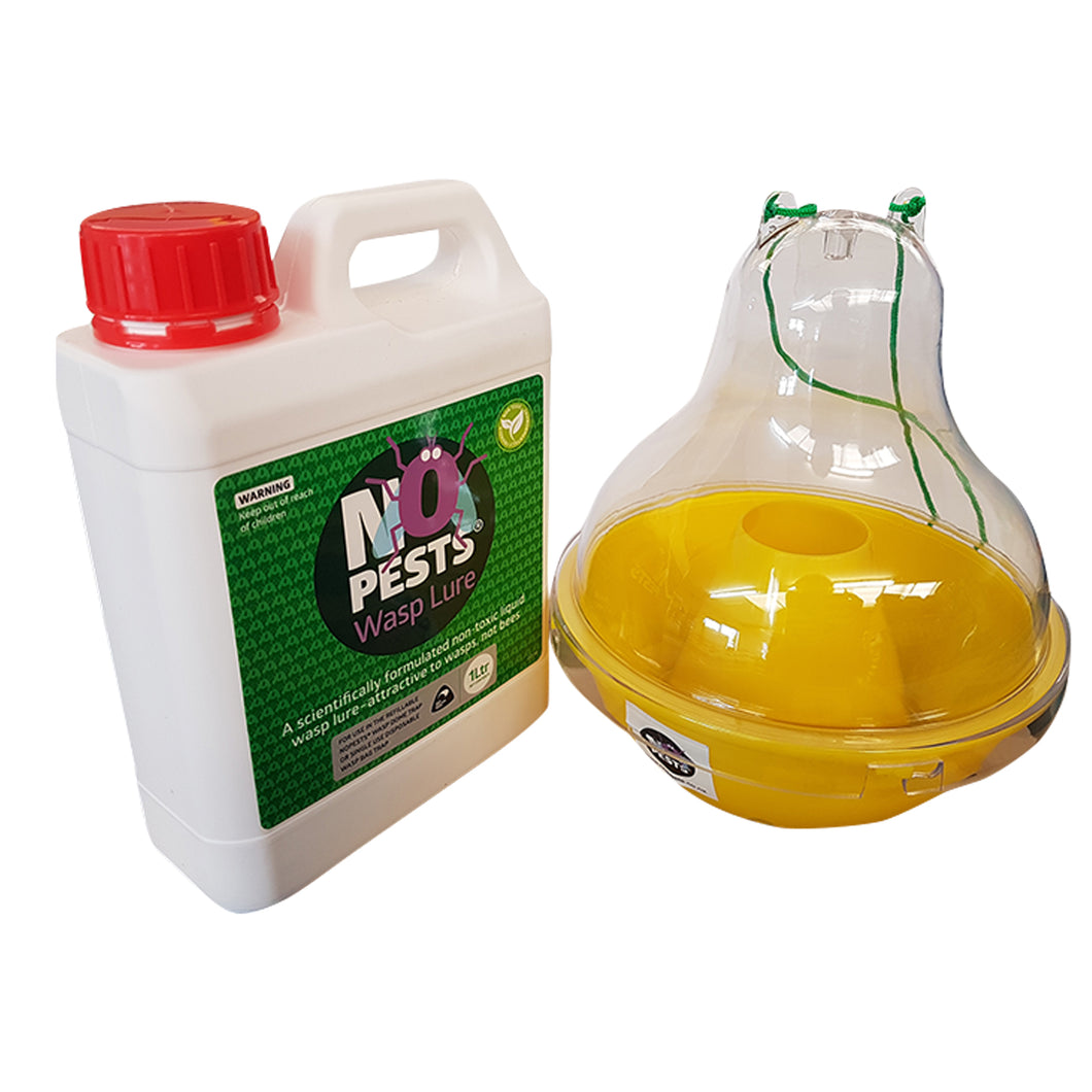 Wasp Trap and 1 Litre of Wasp Lure Formulation