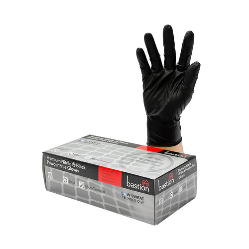 Premium BLACK Nitrile Gloves Pack of 100 Choose Your Size