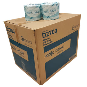 Toilet Rolls Box of 48 x 700 Sheet