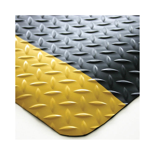 Floor Mat Diamond Plate Black/Yellow