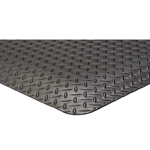 Floor Mat Diamond Plate Style Black 900 x 600mm   PMSD2436
