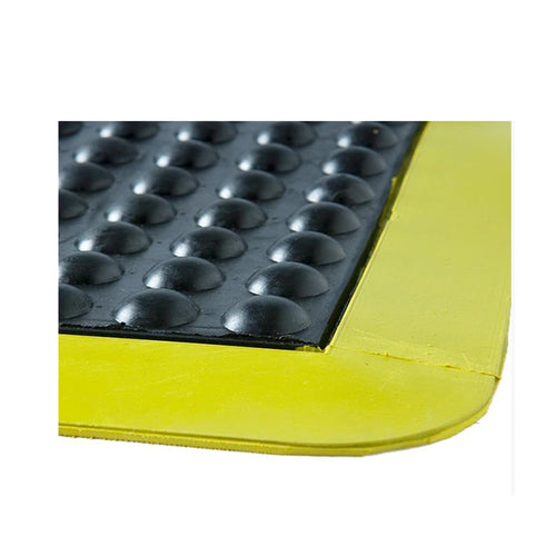Floor Rubber Bubble Mats Black/Yellow