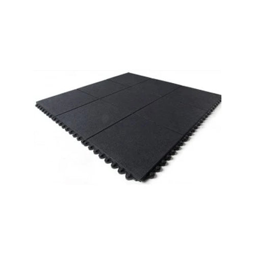 Floor Cushion Foot Solid Mat 900 x 900mm Black MD3636BK
