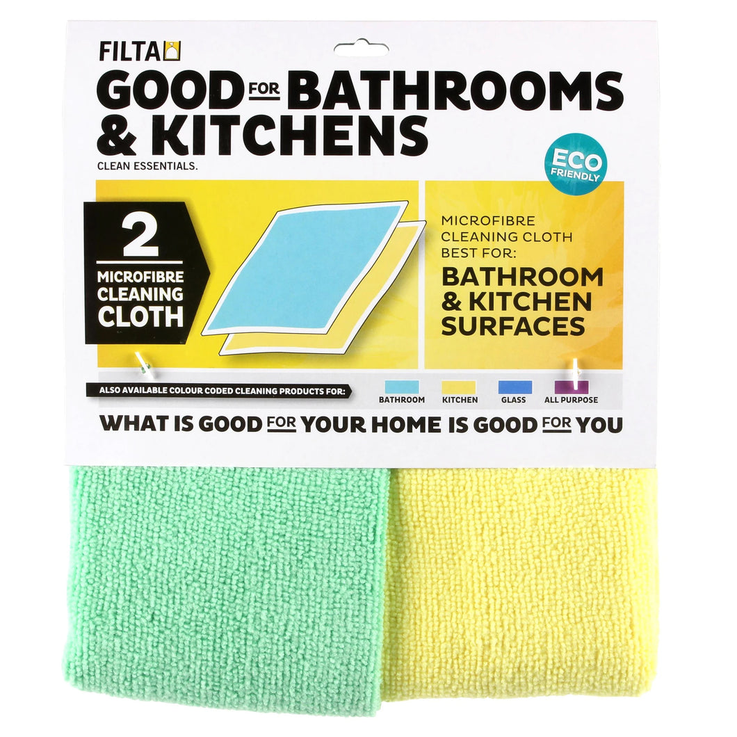 Microfibre Cloth Pack - Kitchen & Bathroom 2pack 30039