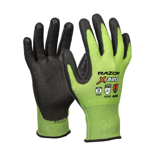 Esko Razor Hi-Vis Green Cut 3 Gloves E460 Choose Your Size