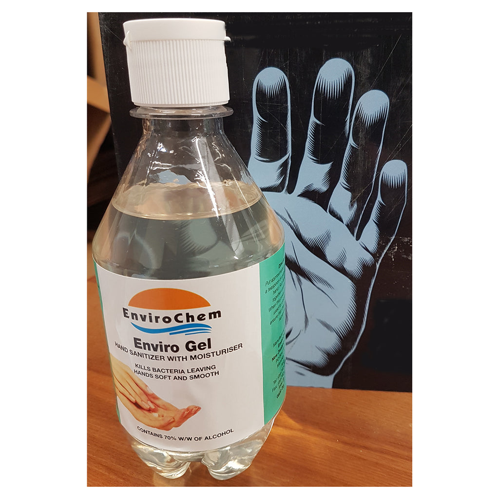 Hand Sanitiser 375ml Push Top Bottles 70% Ethyl Alcohol