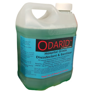 DISINFECTANT & SANITISER HOSPITAL GRADE 2 LITRE CONCENTRATE (60:1) ODARID