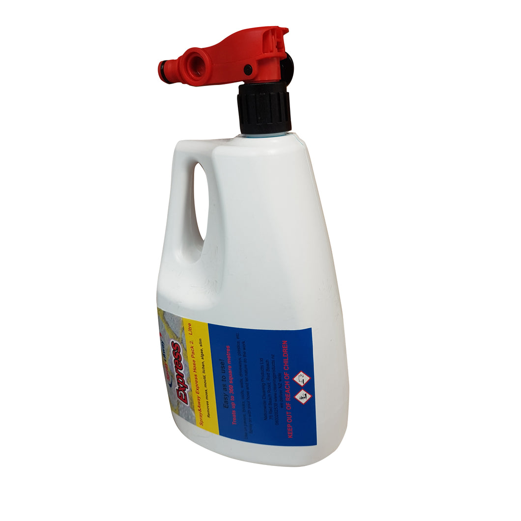 Express Spray & Away 2 Litre Hose Pack Moss-Mould-Lichen-Slime Remover