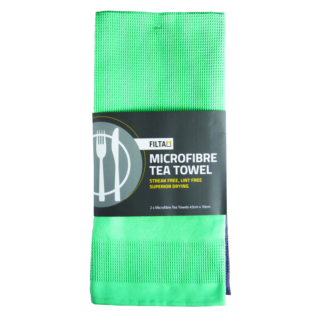 Tea Towel Microfibre 2 Pack Sky 30058