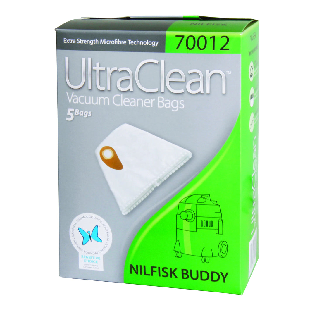 Ultraclean Nilfisk Buddy Vacuum Dust Bags 5 Pack 70012 Microfibre
