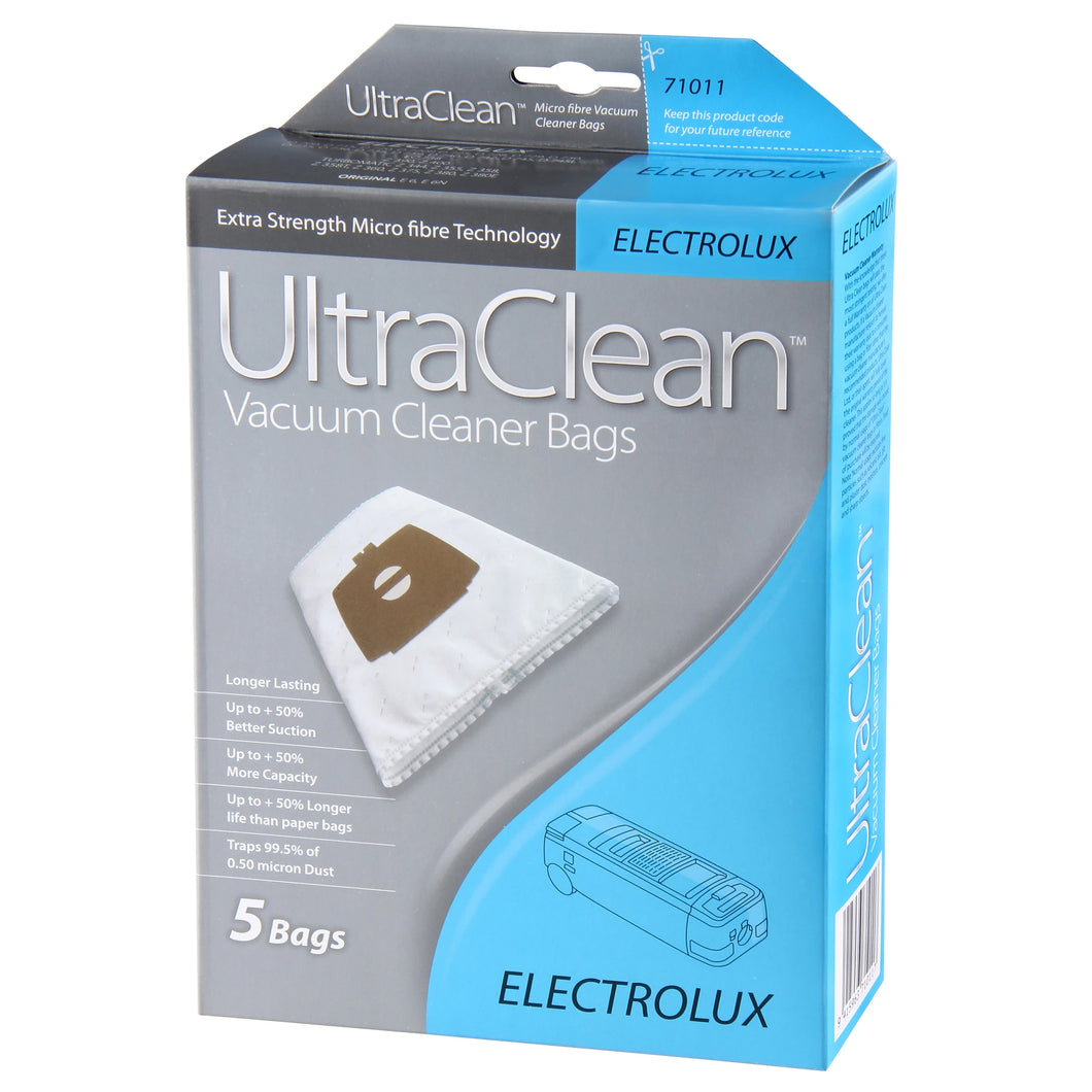 Ultraclean Electrolux Vacuum Dust Bags 5 Pack 71011