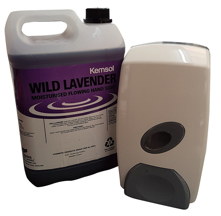 WILD LAVENDER FLOW SOAP 5 LITRE & Dispenser
