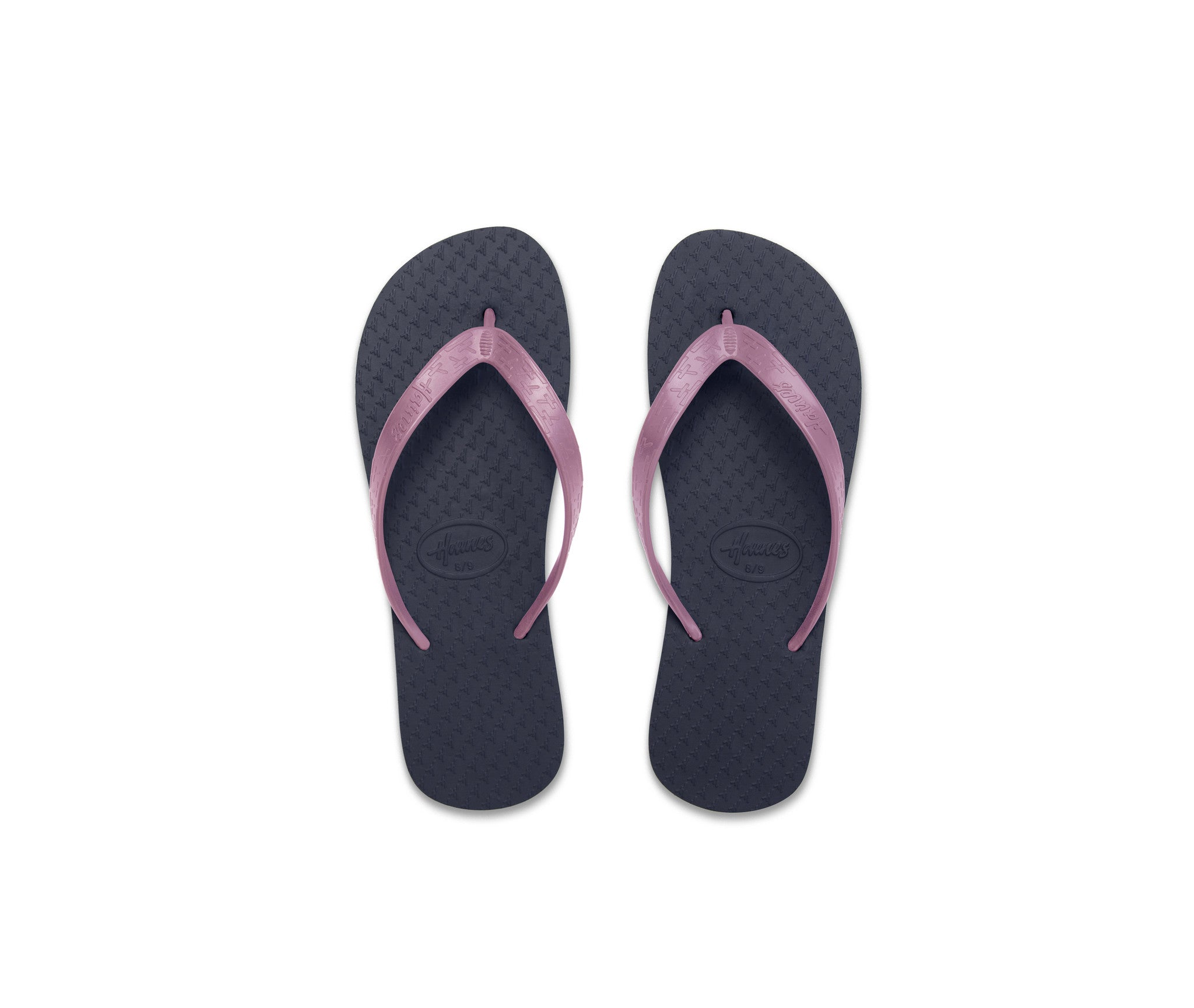 Navy Soles - Baby Pink Straps