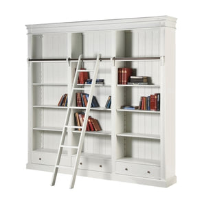 White Fayence Bookcase & Ladder