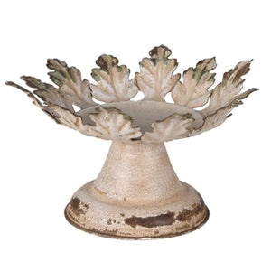 Distressed Leaf Edge Candle Holder