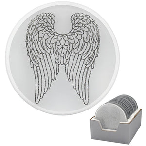 Small Angel Wings Candle Plate