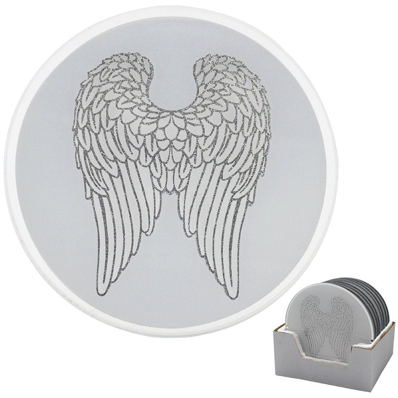 Large Angel Wings Candle Plate