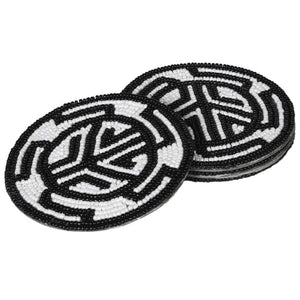 Hand Beaded Aztez Coasters